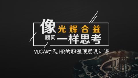 像光辉合益顾问一样思考 ——VUCA时代,HR的职涯顶层设计课